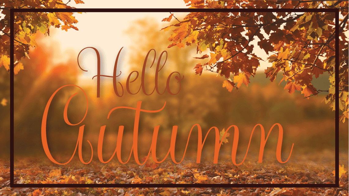 Hello Autumn image with leaves