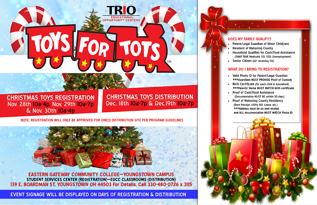 Toys For Tots Christmas Toy Registration In Youngstown Eastern